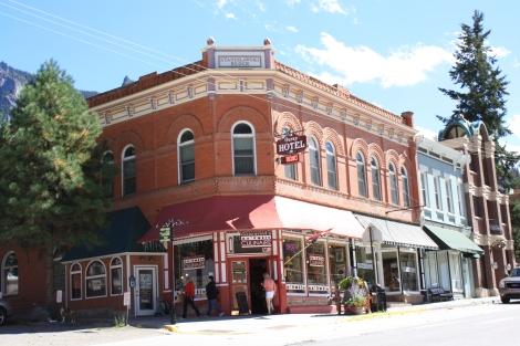 the Ouray Hotel, built in 1893