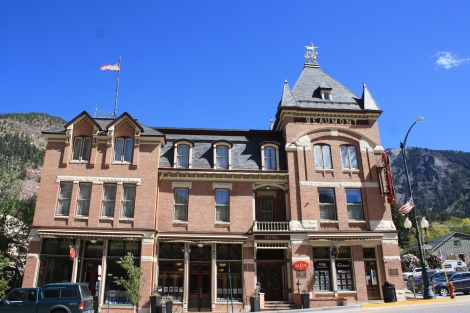the Beaumont Building in Ouray, built 1886.