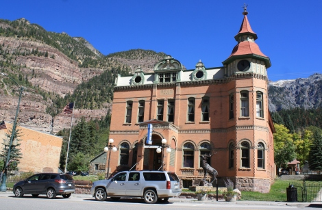the Elks Lodge building in Ouray- built 1904