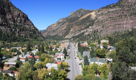 view to Ouray- the Switzerland of America