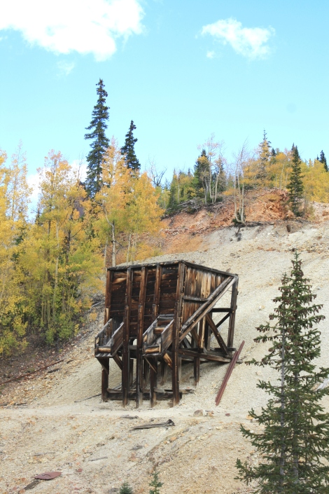 an old ore loader- Red Mountain mining district