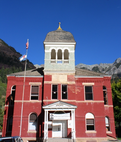 the Ouray Courthouse, built 1888