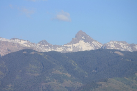 the Wetterhorn- 14,015 ft., as seen from Dallas Divide