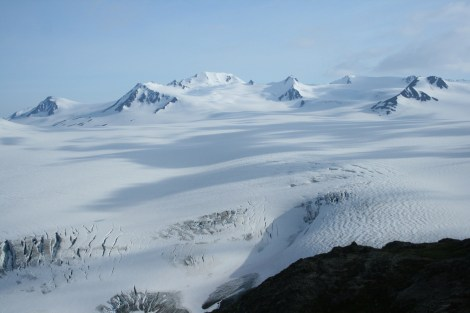 view out to the Harding Icefield- Kenai Fjords National Park