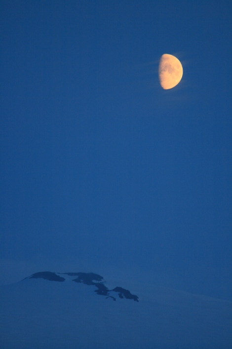 the half moon over the icefield