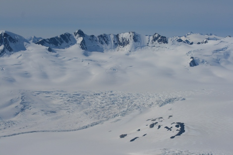 the headwaters of the Bear Glacier, high on the Harding Icefield