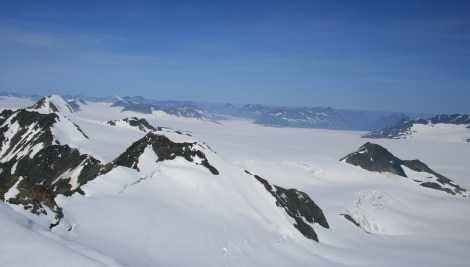 view of the Harding Icefield, from the Dandini