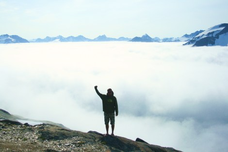 above the clouds in Alaska