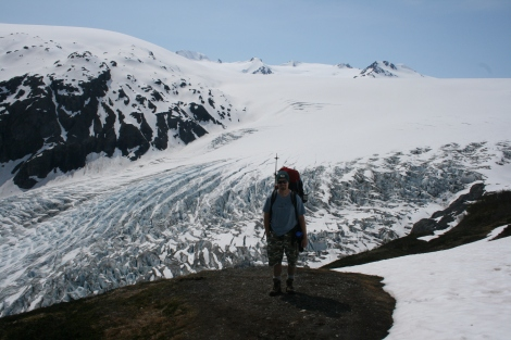 above Exit Glacier and the Harding Icefield