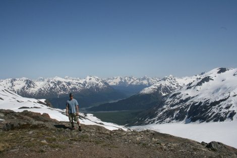 me high above the Resurrection River Valley on a nice summer day