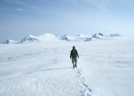 out on the icefield