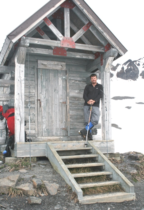 at the Harding Icefield shelter