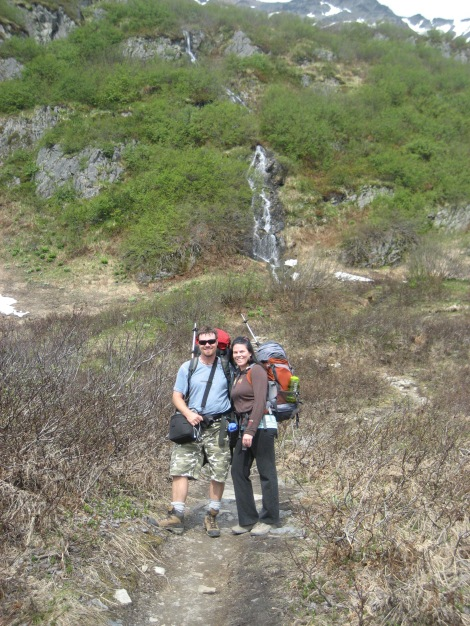 me and Kelli on the Harding Icefield trail
