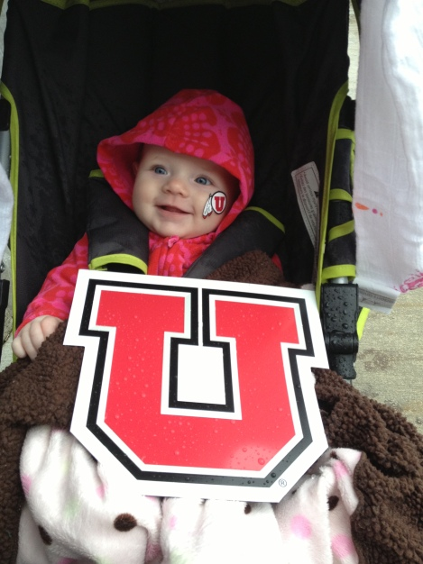 Harlowe rootin' for the Utes!