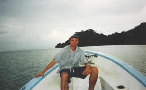 me on the panga leaving Golfito headed to Corcovado