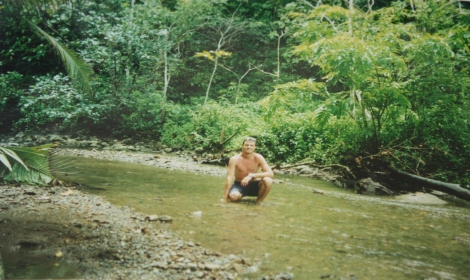 me cooling off in a jungle stream- Corcovado
