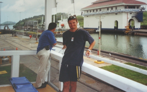 at the Mira Flora Locks- Panama Canal