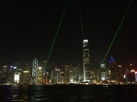 light show- Hong Kong
