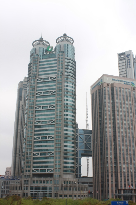 space-age building in Pudong- Shanghai