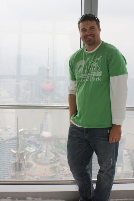 me at the top observation deck of the Shanghai World Financial Center on the 100th floor!