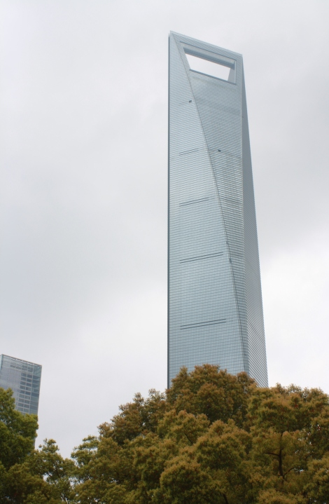 the Shanghai World Financial Center- 2nd tallest building in China at 1,600 feet. my favorite building in the city