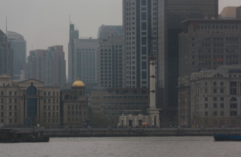 cityscape along the Huangpu River