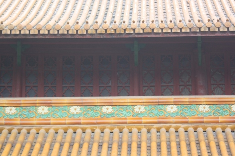 Nanping temple rooftop detail