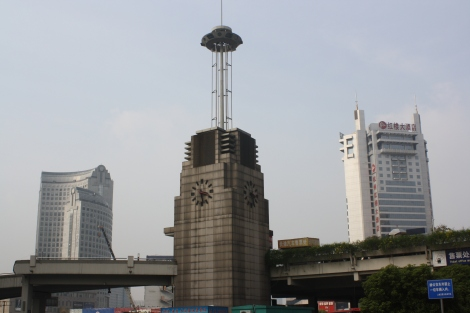 seen from the Hangzhou Railway Station