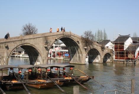 Zhujiajiao Ancient Town Bridge, an hour west of Shanghai