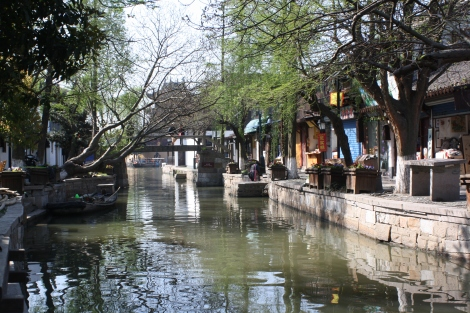 one of many canals in Zhujiajiao, a town on the outskirts of Shanghai established 1,700 years ago