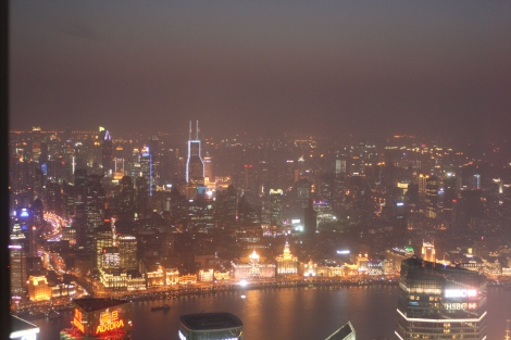 Shanghai at night, from the Jin Mao Tower