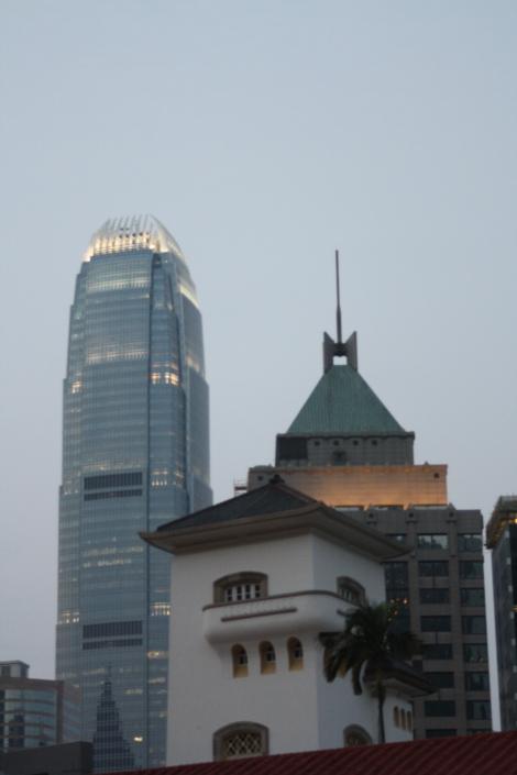 Hong Kong rooftops at dusk